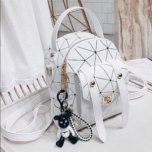 Handbags - Geometric Pattern Mini Backpack Bag
